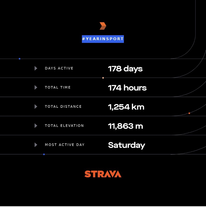 Strava 2019:  The year I decide to get the better of my health